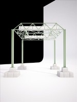 pergola universal exposition expo 92 3d 3ds