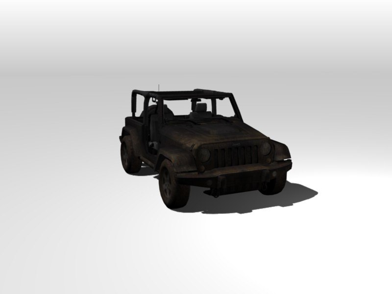 race jeep car 3d blend