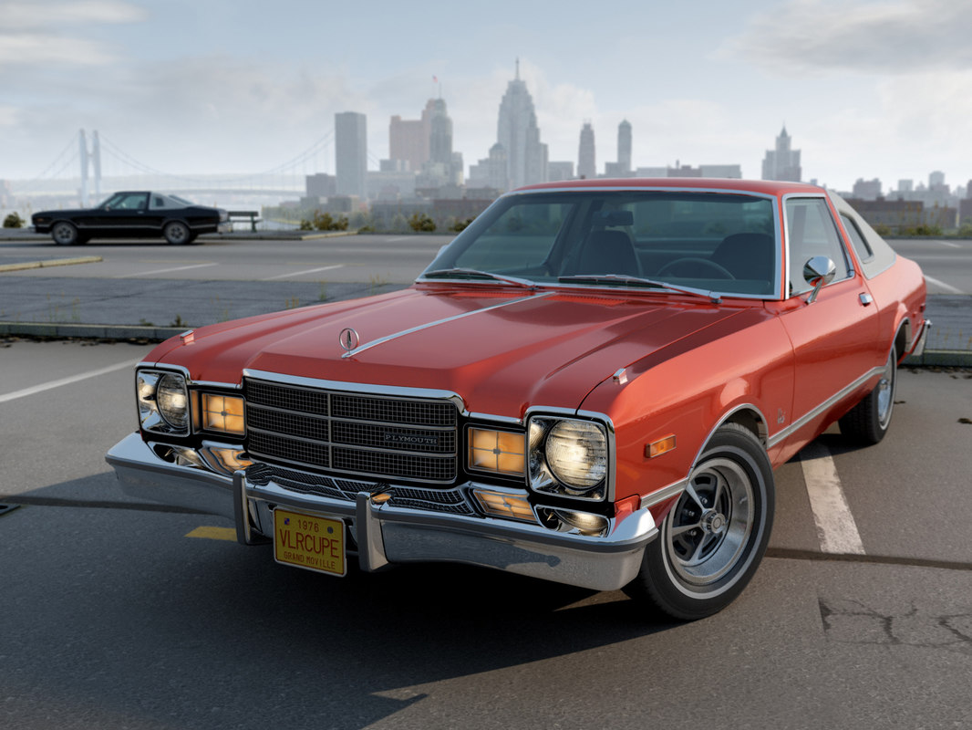 plymouth volare coupe 3d model
