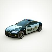 2013 Tesla Model S POLICE