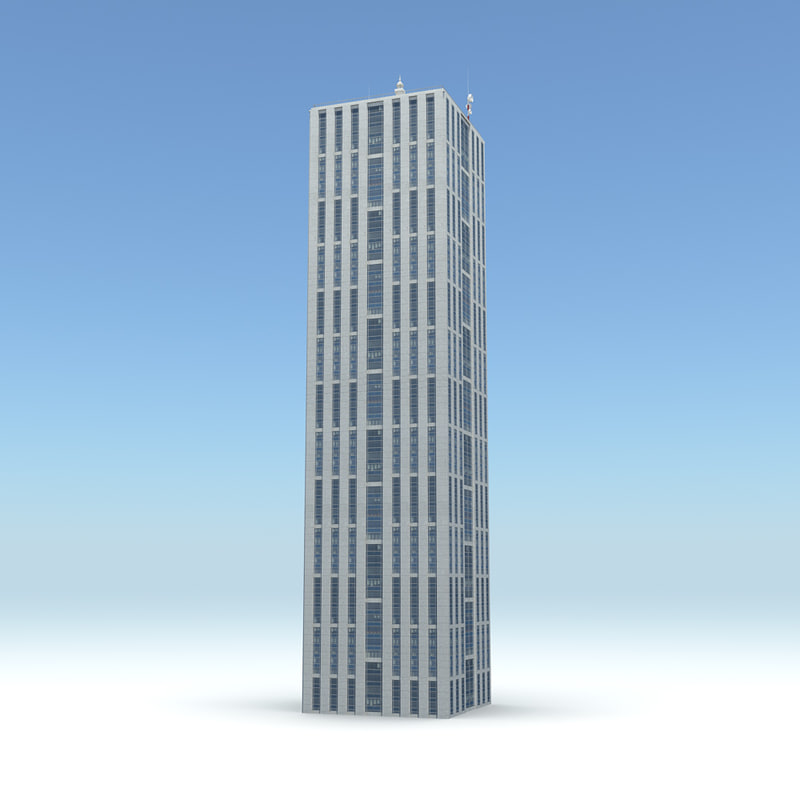3d skyscraper 05 day night model