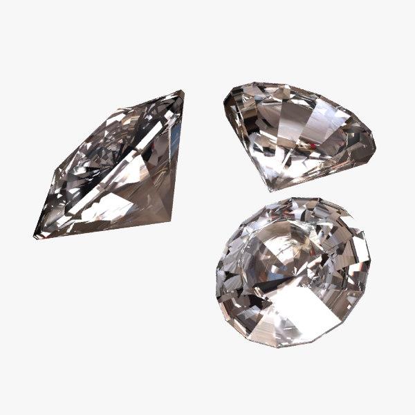 3d diamonds jewels design