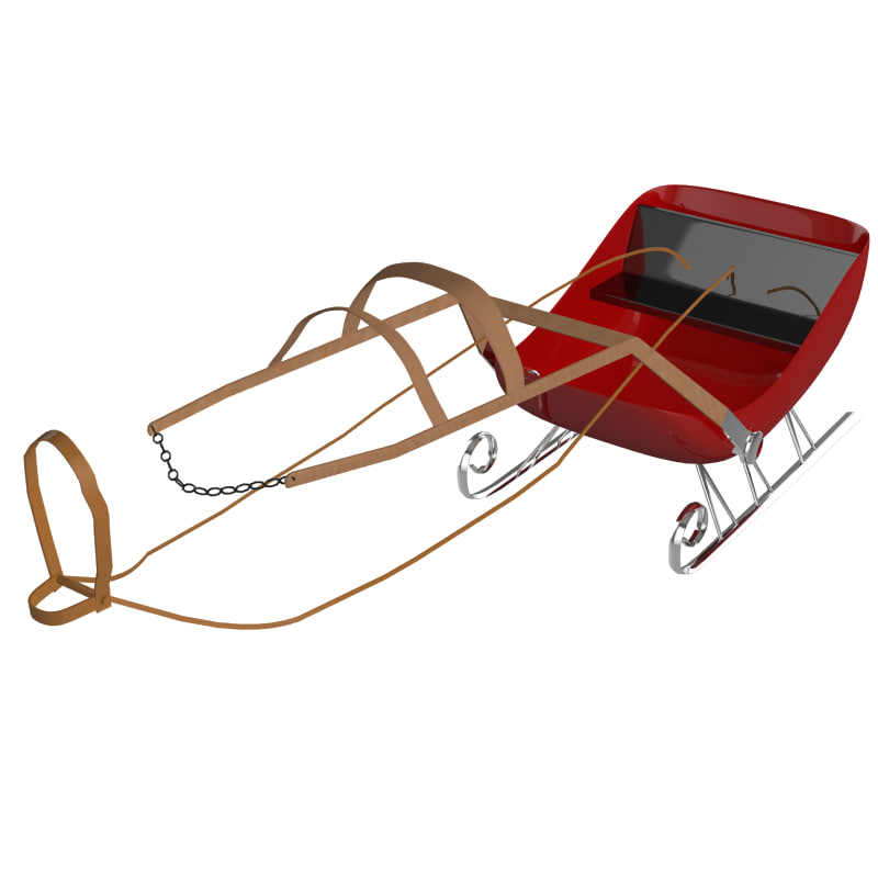 3d model sled sleigh