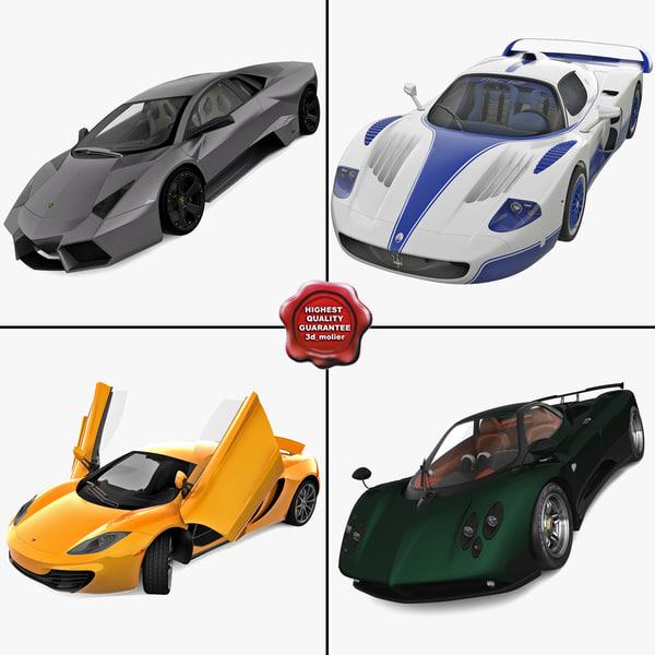 supercars 5 3d c4d