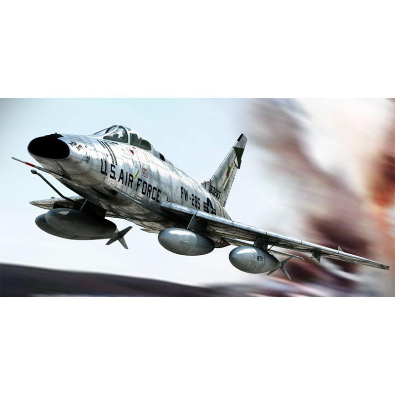 3ds max north american f-100 super