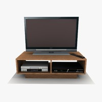 tv cabinet 3ds