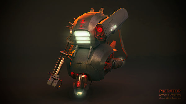 3d sci fi robot character