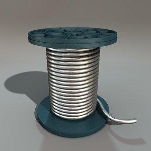 wire spool 3d obj