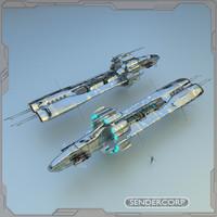 cruiser sendercorp multiverse 3d blend