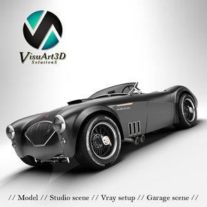 3d austin healey 1004 v8 model