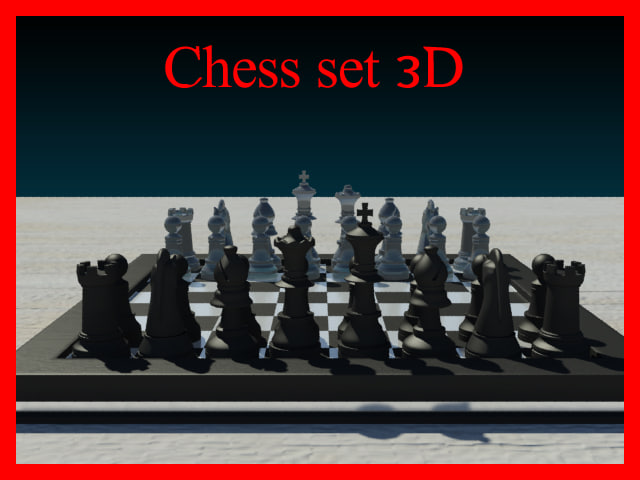 3d chess set model