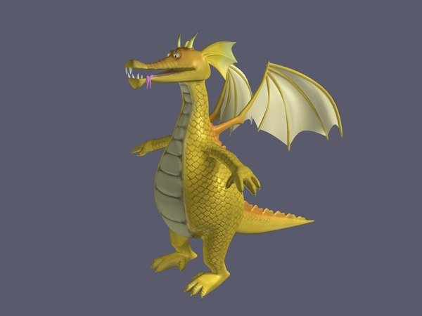 3d model of dragon
