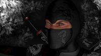 rigged ninja 3d model