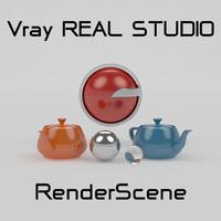 studio setup 3d model