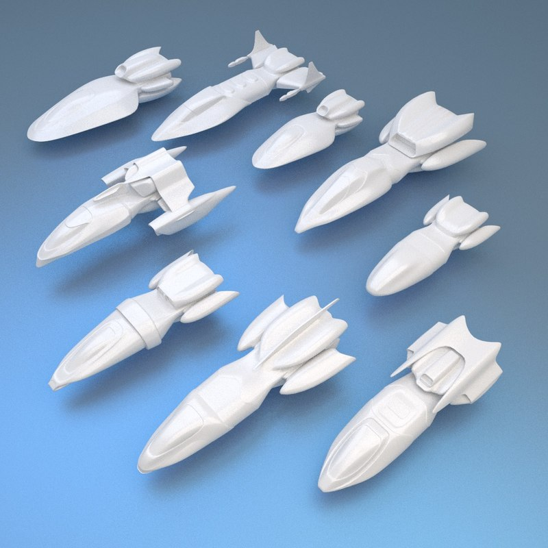 3d spaceship hunter model