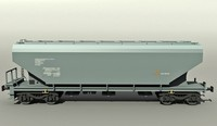 3d hopper railcar model