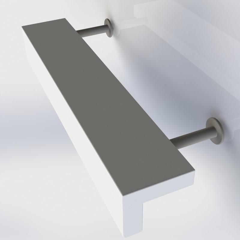 furniture handle office 3d model