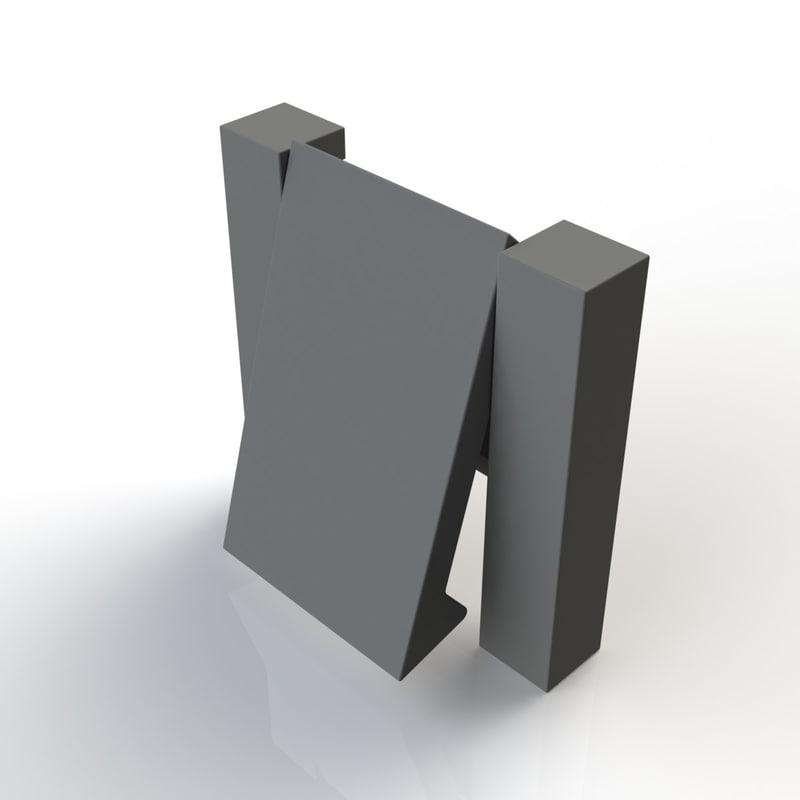 3d model furniture handle