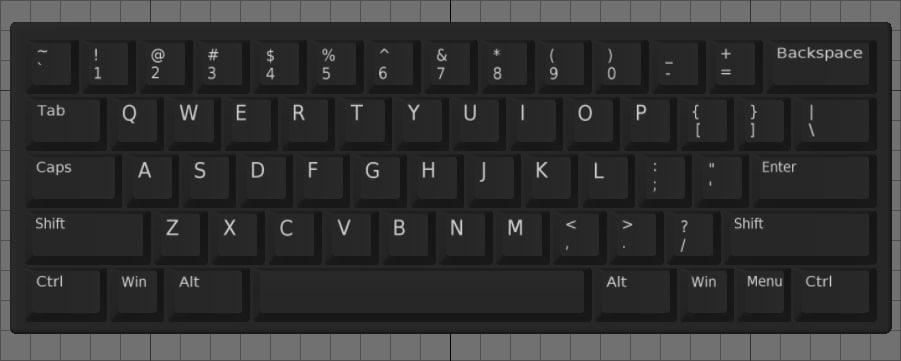 us-layout keyboards obj free