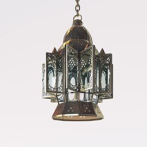 free arabic lamp 3d model