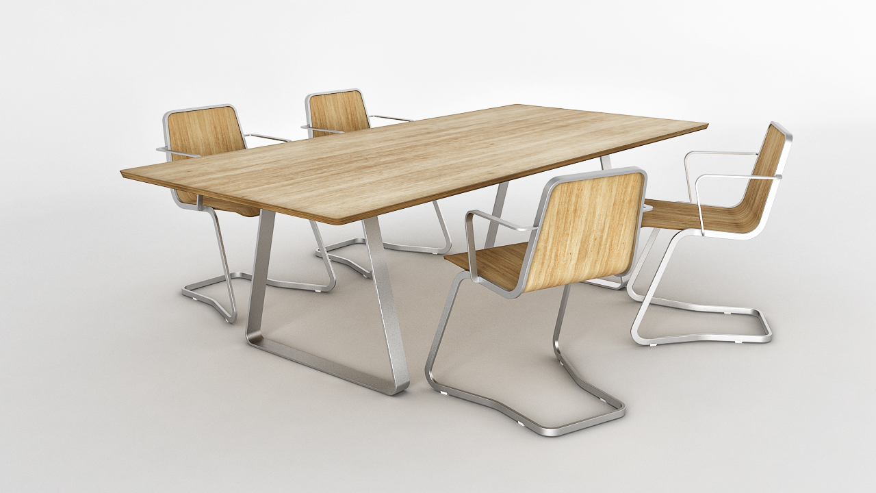 Chair Jo Table Mutka 3d Model