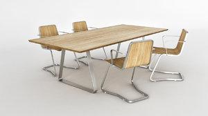 chair jo table mutka 3d model