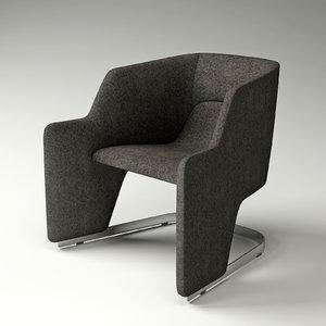 3d moroso skate armchair chair