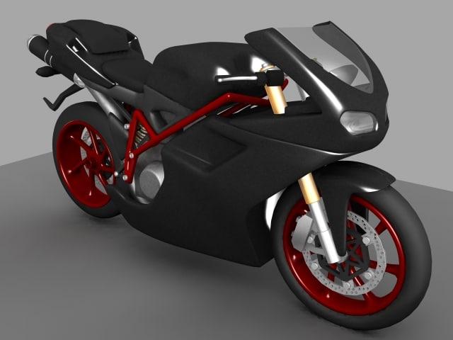 sport motorcycle evo 3d model