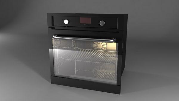 steel oven 3d model