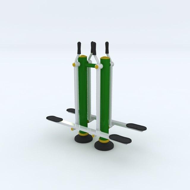 3d outdoor fitness equipment sky model