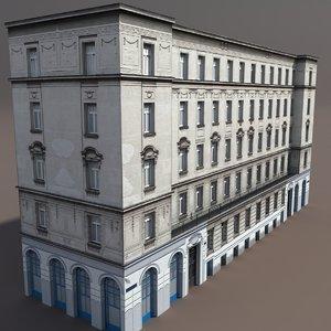 3d model of building exterior modelled