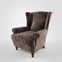 3d model poltrona frau dionisio armchair