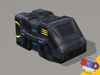 sci-fi big crate2 3d max