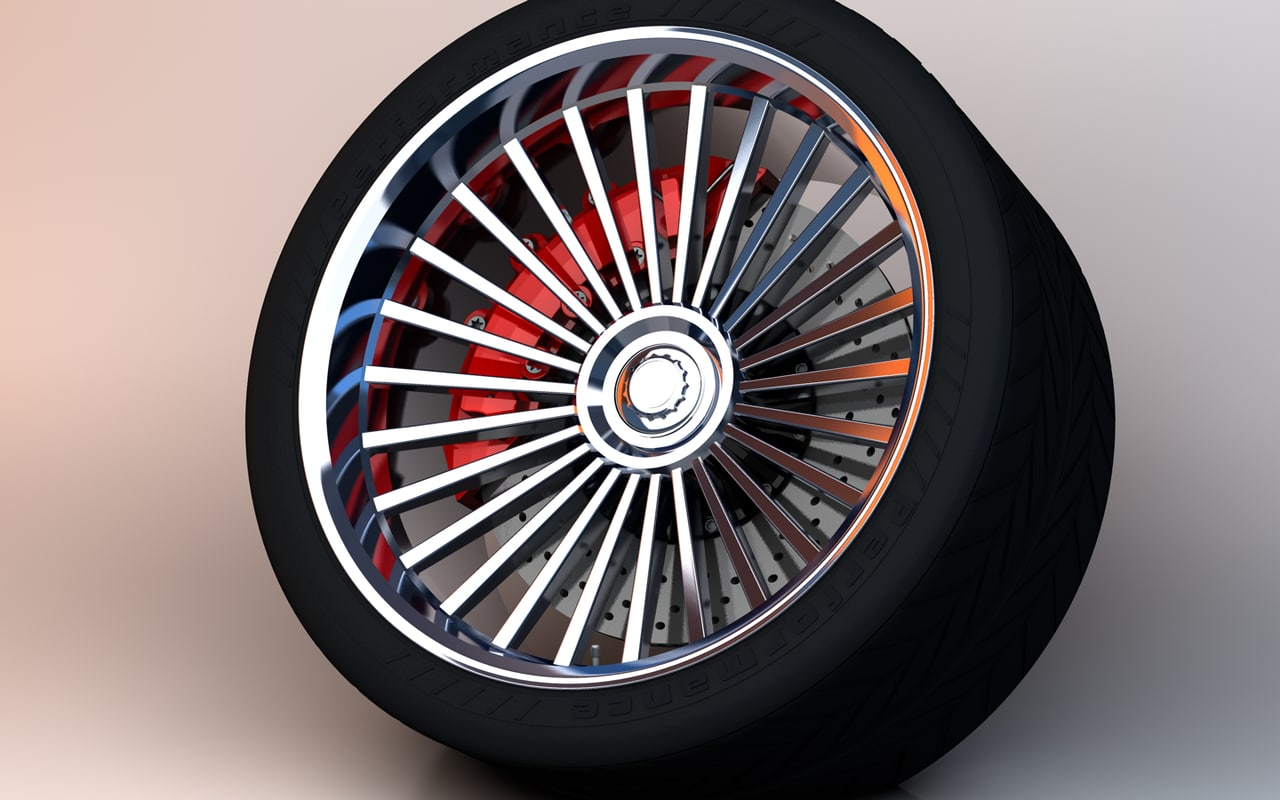 3d performance tire rim brake