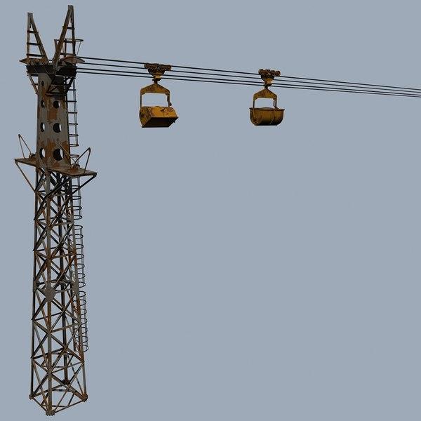3d model trolley line