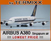 c4d airplane airbus a380 singapure