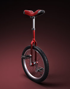 unicycle 3d max