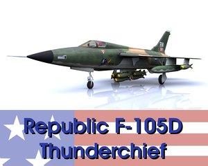 3d republic f-105d thunderchief