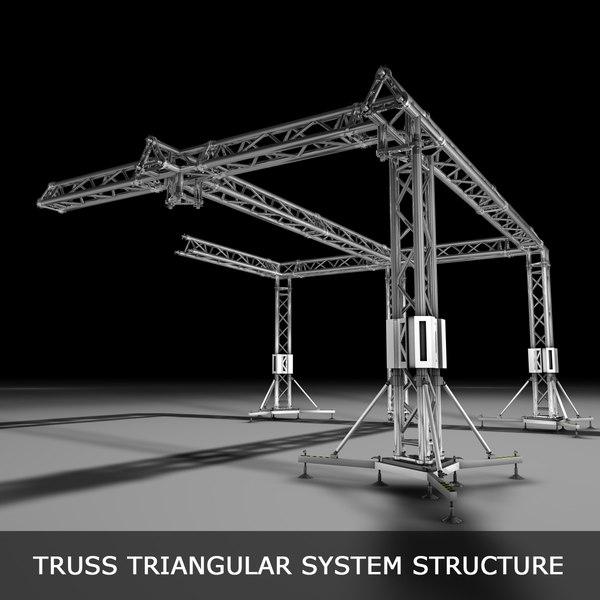 3d model truss structures