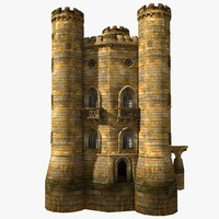 medieval castle yellow tower max