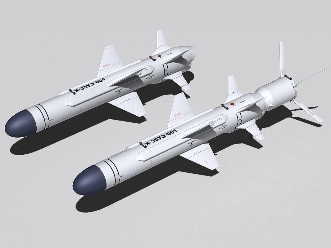 kh-35ue missile 3d 3ds