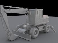 obj mobile excavator m313c