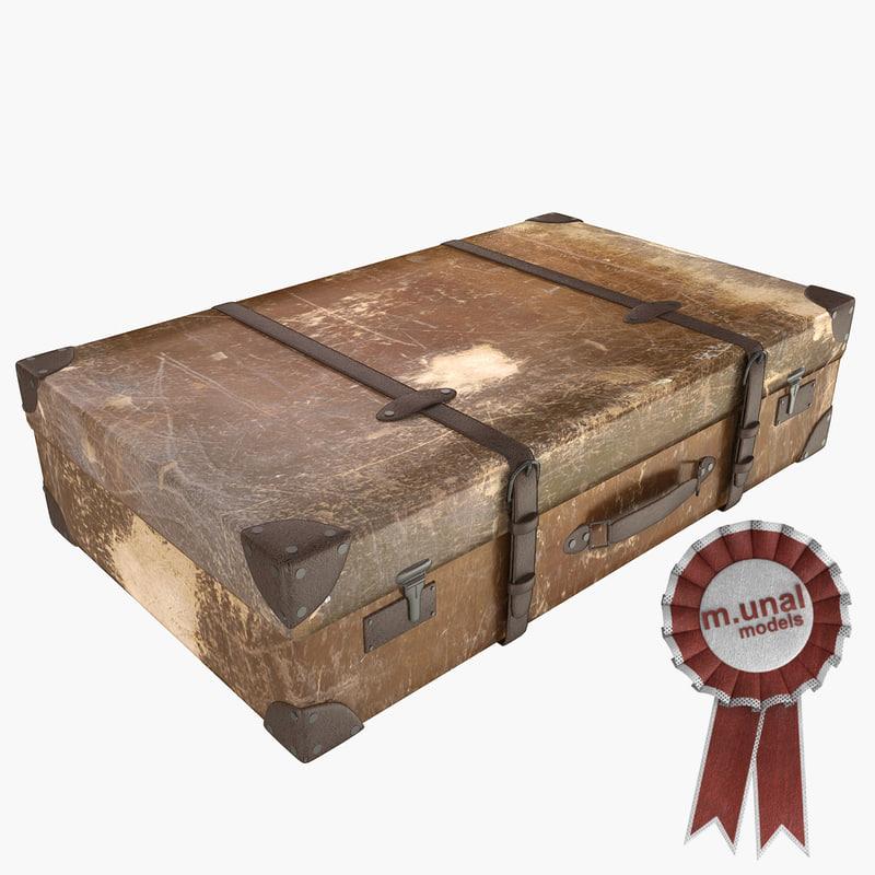 realistic suitcase 3d model