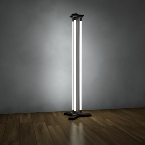 Living floor lamp 3d model for Living lighting floor lamps
