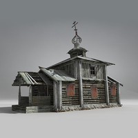 Russian Old Wooden Church