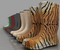 modern design rain boots 3d max