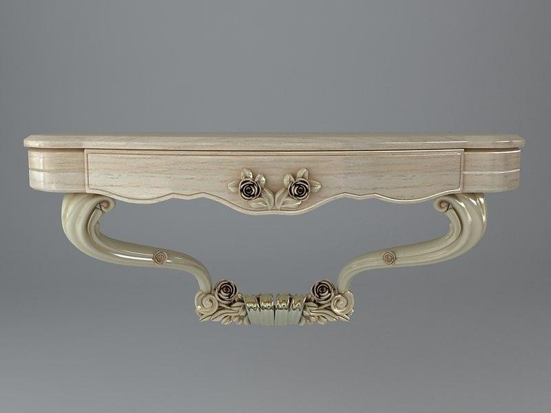 console table baroque 3d model