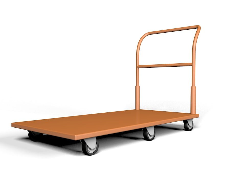 3d model home pushcart