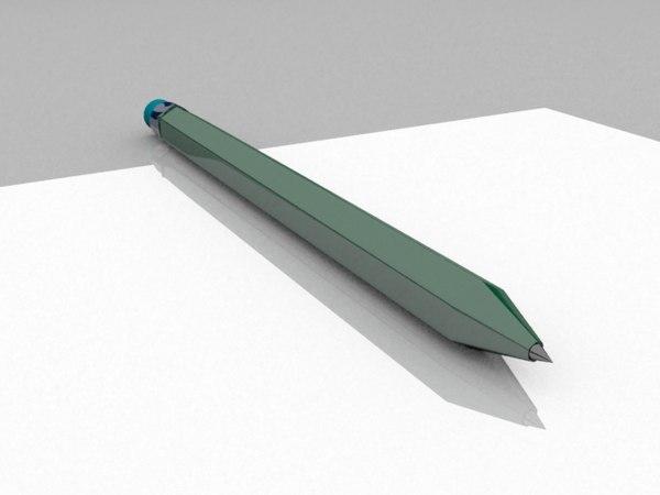 free pencil 2011 3d model