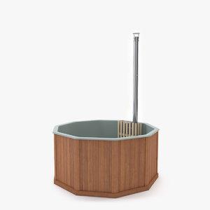 3d hot bath sauna model